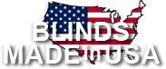 Blinds Made In USA logo for window treatments and blinds company, the definitive choice for your window covering needs.