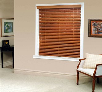 Faux Wood and Wood Blinds made in the USA for commercial use