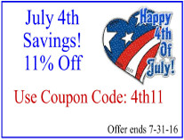 11% Off-July 4th