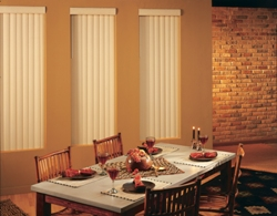 Fabric Vertical Blinds made in the USA.