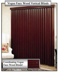 Vertical Blinds Fake Wood