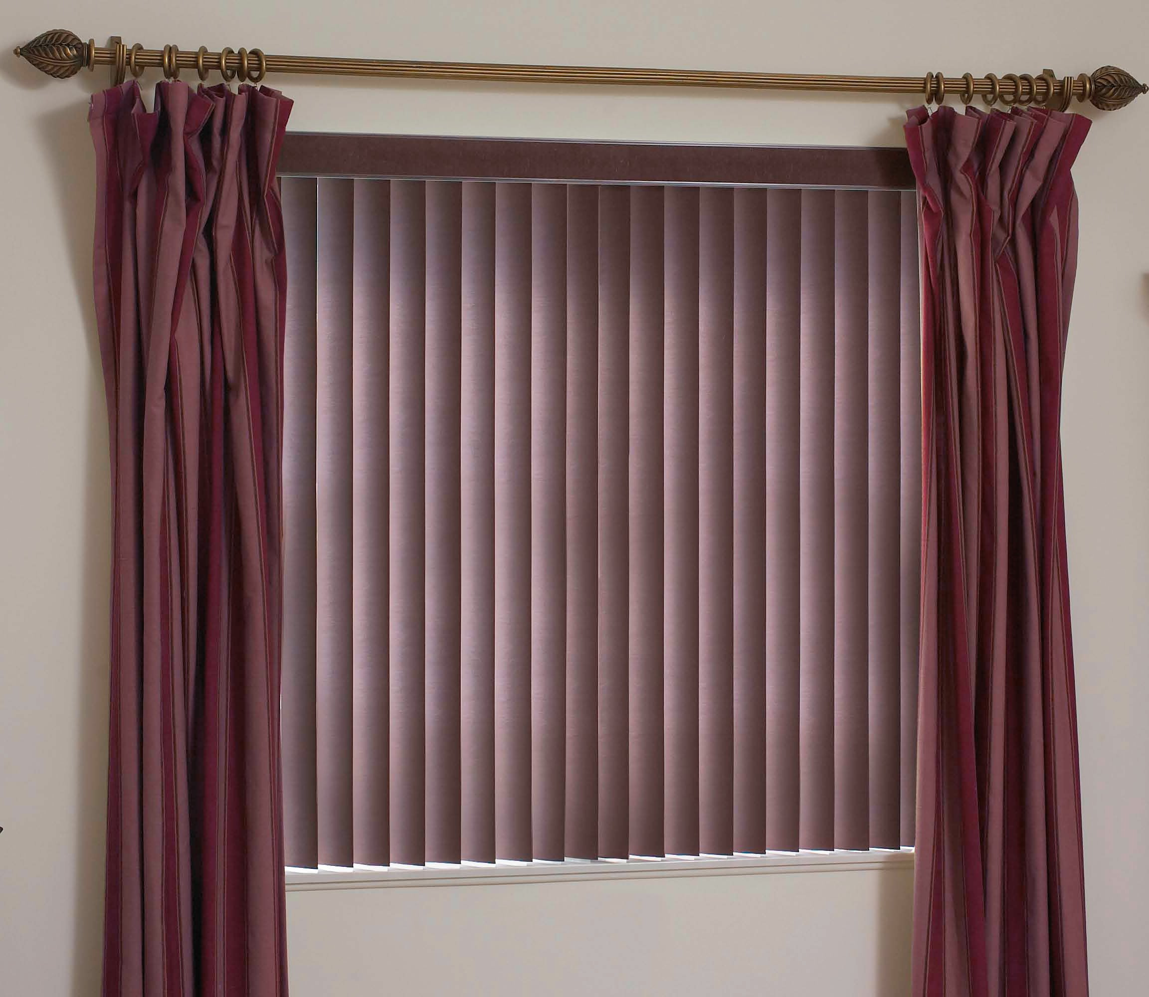 Sheer Vertical Blinds Wooden